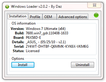 Windows7 loader installation Windows 7 Loader / Activador de Windows 7 (Actualizado Octubre 2011)