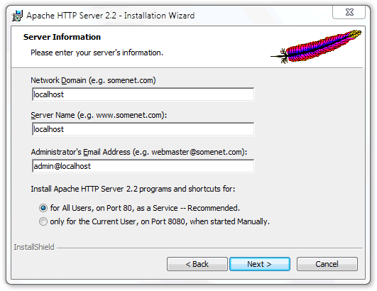 Instalar-apache-en-windows-7-server-information