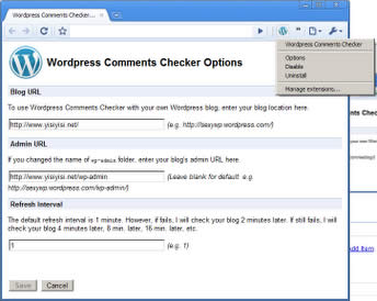 Wordpress Comments Notifier