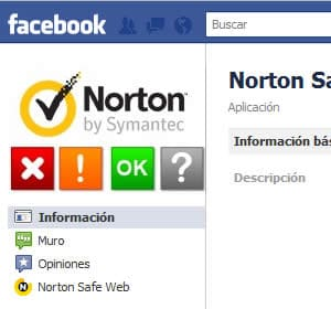 norton safe web facebook