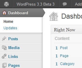 wordpress 3.3 beta 3